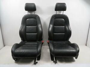 06 Audi TT MK1 Convertible #1150 Seat Pair, Manual, Black Leather Front