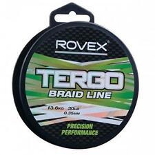 Rovex Tergo Braid Hi Viz Yellow - Dyneema - Fishing Line 15lb Sporting Outdoors