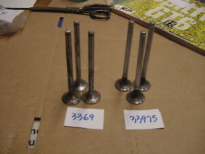 6 NOS Exhaust Valve Triumph GT6 MKI to KO6914E 2 different English manufacturers
