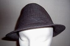 Mens Grey Pork Pie Hat One Size