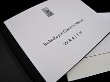 2016  Rolls-Royce WRAITH Owners Manual Set #O707