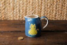Hand-painted Ceramic Cat Milk Cream Sauce Gravy Jug 200ml 7oz Gift Blue
