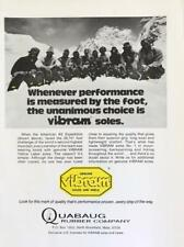 1976 Quabaug Vibram Boot Soles Print Ad American K2 Expedition Mountaineering