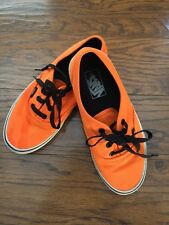 VANS Off The Wall Orange Canvas Low Top Shoes Men's Size 6/Women's 7.5