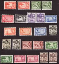 CAYMAN ISLANDS George VI 1938 Com. ver shades/perfs multiple,multi-colour hinged