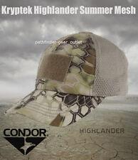 Condor Kryptek Highlander Tan Mesh Tactical Operator cap hat Coyote Multicam