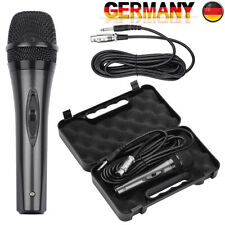 Dynamisches Profi Metall Mikrofon Microphone + Koffer Case + 5m Wired Kabel X3J3