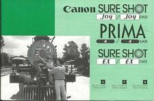 CANON SURESHOT-PRIMA-INSTRUCTION MANUAL