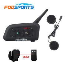1200M V6 BT Interphone Bluetooth Motorcycle Full Face Helmet Intercom Headset