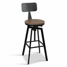 2x Rustic Bar Stools Angus Retro Barstool Industrial Dining Chairs Kitchen Metal