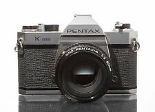 Pentax K1000 35mm SLR Film Camera with 50 mm lens Kit