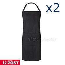 Apron With Pocket Chef Kitchen Cooking Cotton Women Men Unisex Ladies Bib Work X