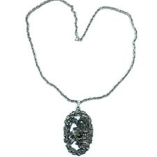 Vintage Romeo and Juliet Pewter pendant with chain
