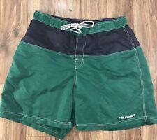 VTG 90s Tommy Hilfiger Trunks Blue Green Striped Colorblock Swimming Trunks XL