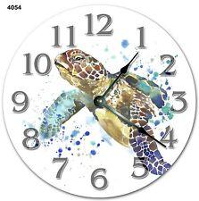"""10.5"""" Sea Turtle Painting Art Clock - Sea Turtle - Large 10.5"""" Wall Clock - 4054"""