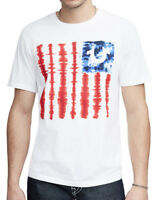 True Religion Men's Tie Dye Flag Tee T-Shirt in White