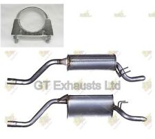 For Fiat Punto 1.2i Hatchback 99-08 Rear Exhaust Back Box + Clamp - FT782L