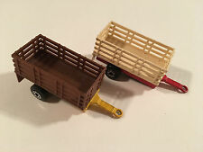 Matchbox Lot of 2 Utility Trailers Diecast Used Condition