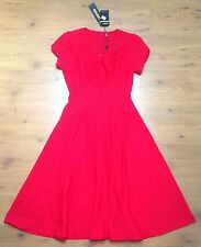 MIUSOL YORK Neuf Pin Up Rockabilly Vintage Look Robe Rouge S: s BNWT RRP: 199 $