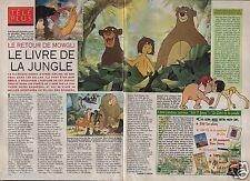 Coupure de presse Clipping 1993 Livre de la Jungle le retour de Mowgli (2 pages)