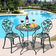 Signature Black Cast Aluminium Loveseat Bench Garden Furniture Patio set 1pc D4