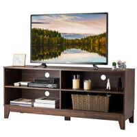 "58"" Modern Wood TV Stand Console Storage Entertainment Media Center  Walnut"