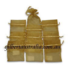 Wedding Bridal Bomboniere Craft Gift Organza Bag Gold 50 pcs  75mm x 100mm