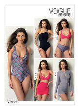 Vogue V9192 PATTERN - Misses Top, Swimsuit, Bottom & Cover-Up - Size 6 - 22 BN