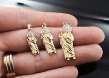 San Judas Tadeo Medalla Oro 14k Gold Saint Jude Pendant Charm Religious Pendant