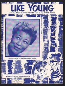 Like Young 1959 Ella Fitzgerald Sheet Music