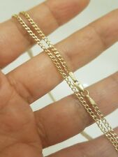 PM169 14k Solid Gold Bar Necklace chain Stick Bar Necklace