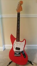 Fender Jagstang Fiesta Red with mods locking tuners, stationary bridge, p/up