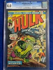INCREDIBLE HULK #180 DOUBLE COVER CGC 4.0 VG 1st Cameo appearance WOLVERINE 1974