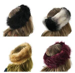 Handbag Bliss Luxury Faux Fur Headband Winter Ear Warmer Ski Ear Warmer Hat