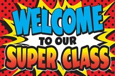 TCR 5652 Super Hero Welcome to Class Postcards Classroom Decorations