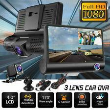 4 Zoll 3 Lens Car DVR Dash Cam Video Recorder Camera Nachtsicht G-sensor KFZ DE