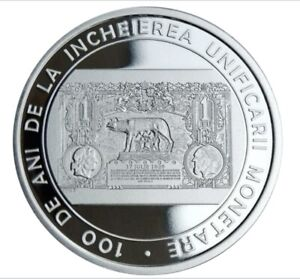 100 Years Since the Accomplishment of Monetary Unification - 10 lei Silver