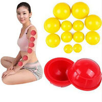 746|lot de 12 ventouses cup silicone anti cellulite amincissant massage minceur
