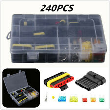 240pcs Car Electrical Wire Dustproof Connector Plug Terminal Fuses Kit Scooter