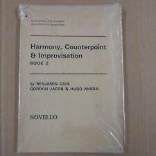books BENJAMINE DALE Harmony, Counterpoint + Improvisation Bk 2, Gordon Jacob