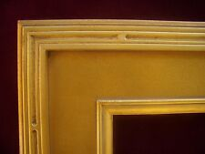 Custom Hand Made Wide Plein Air Gold Groove Carve Frame Any Size Up To 30X40
