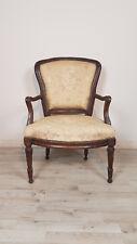 rara poltrona antica in noce massello autentica epoca Luigi XVI 1700 Sec XVIII
