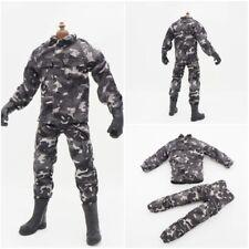 "1/6 Scale Urban Camo Uniform Jacket Pants Military Soldier For 12"" Action Figure"