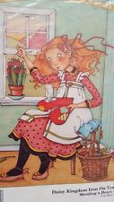 1990 Mary EngelBreit Iron On Transfer Mending A Heart Sewing Daisy Kingdom