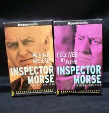 ACORN AUDIO INSPECTOR MORSE 4 CASSETTES JOHN THAW Audiotrak Lot Mystery Crime