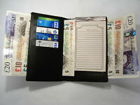 High Quality Luxury Travel Men's Leather Tall Wallet with Space for iphone Black