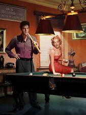 MARILYN MONROE AND ELVIS PRESLEY PLAYING POOL 8X10 SMALL POSTER pool hall print