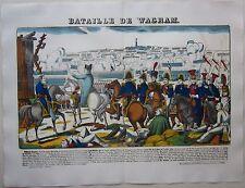 1912 BATAILLE DE WAGRAM Pellerin Epinal Napoleone Marchfeld Napoléon big format