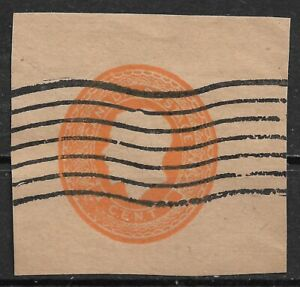 1912 CANADA Cut Square from Stamped Unembossed Envelope