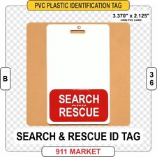 Search and Rescue ID TAG Identification Card Badge SAR & K9 Mtn Urban Water B 36
